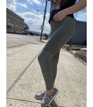 MONO B Zigzag Side Mesh Leggings