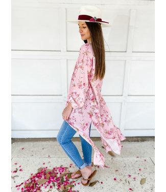 Peach Love California The Rose Garden Kimono