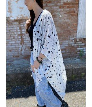 Peach Love California Dobby Star Kimono