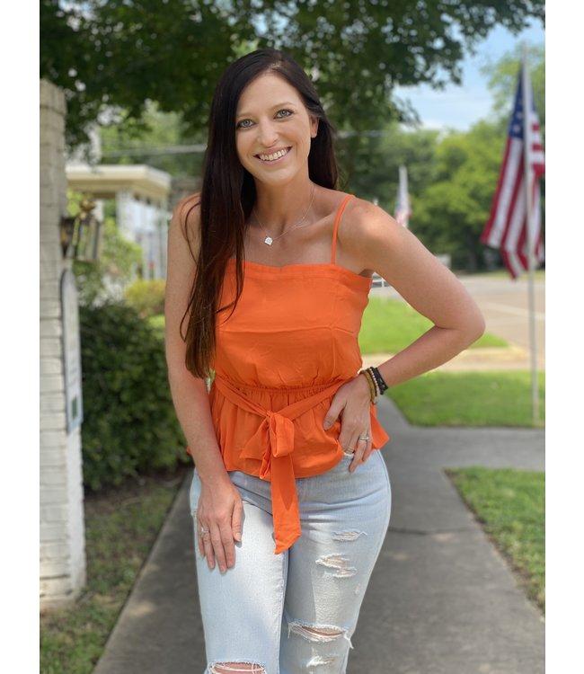 Diamond T Outfitters Orange Drop Tank