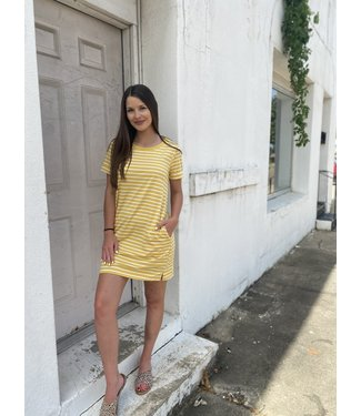 Honey Stripe Tee Dress