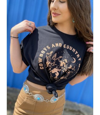 tres bien Cowboys & Country Music Tee