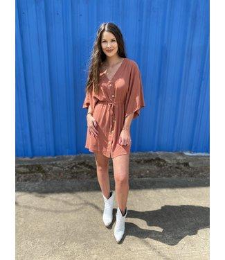 Entro Inc The Tera Dress in Rust