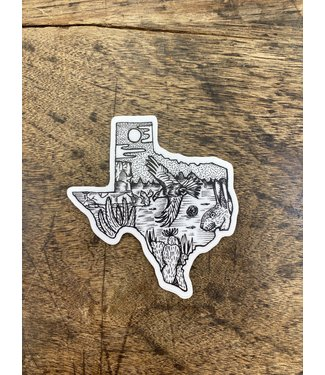 stickers NW Texas Scene Decal