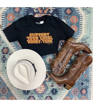 rodeo hippie Support your Honky Tonk Tee