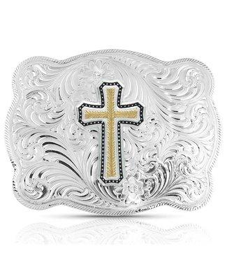 3615-929XL Simple Scalloped Golden Faith