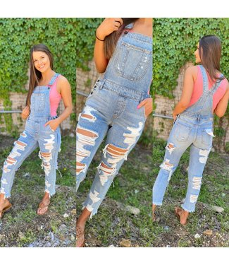 Cello Frayed Mega Distressed Overall