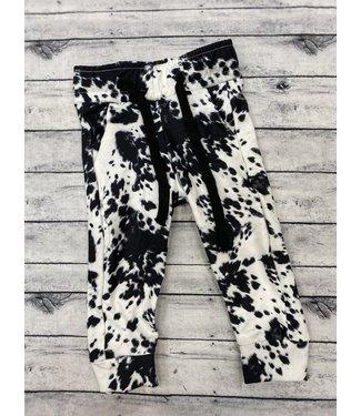 Beauts & Beaus Cow Print Joggers