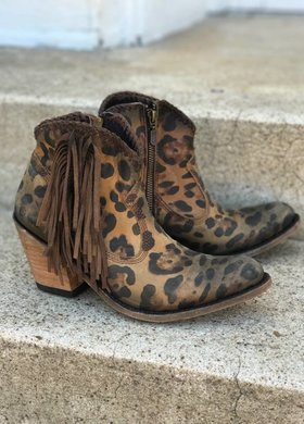 Liberty Black Vegas Cheetah Bootie