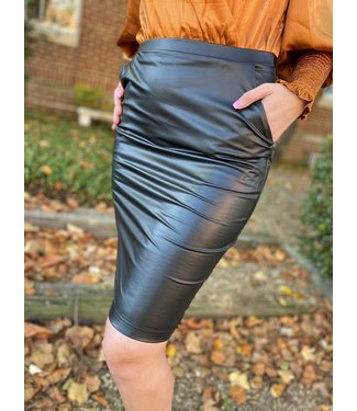 see and be seen The Bronx Midi Skirt