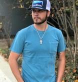 Diamond T Outfitters Modern Pocket Crew Indigo Blue