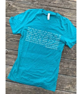 Threads of Light Matthew 5:14-16 Tee