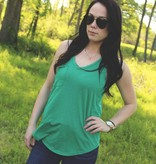 Diamond T Outfitters The Pocket Racer Tank Paradise Green