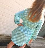 Turquoise Gingham Dress