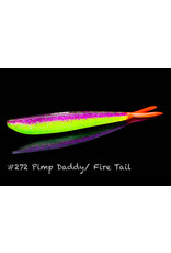 """Lunker City Fishing Specialties Fin-s 4"""" Pimp Daddy/Fire Tail #272"""