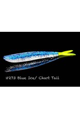 "Lunker City Fishing Specialties Fin-s 4"" Blue Ice/Chart Tail # 273"