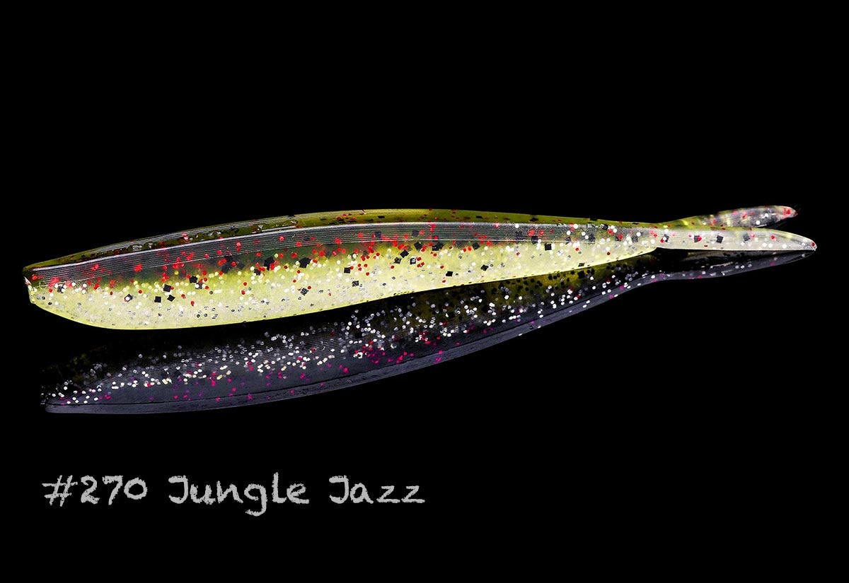 "Lunker City Fishing Specialties Fin-s 4"" Jungle Jazz #270"