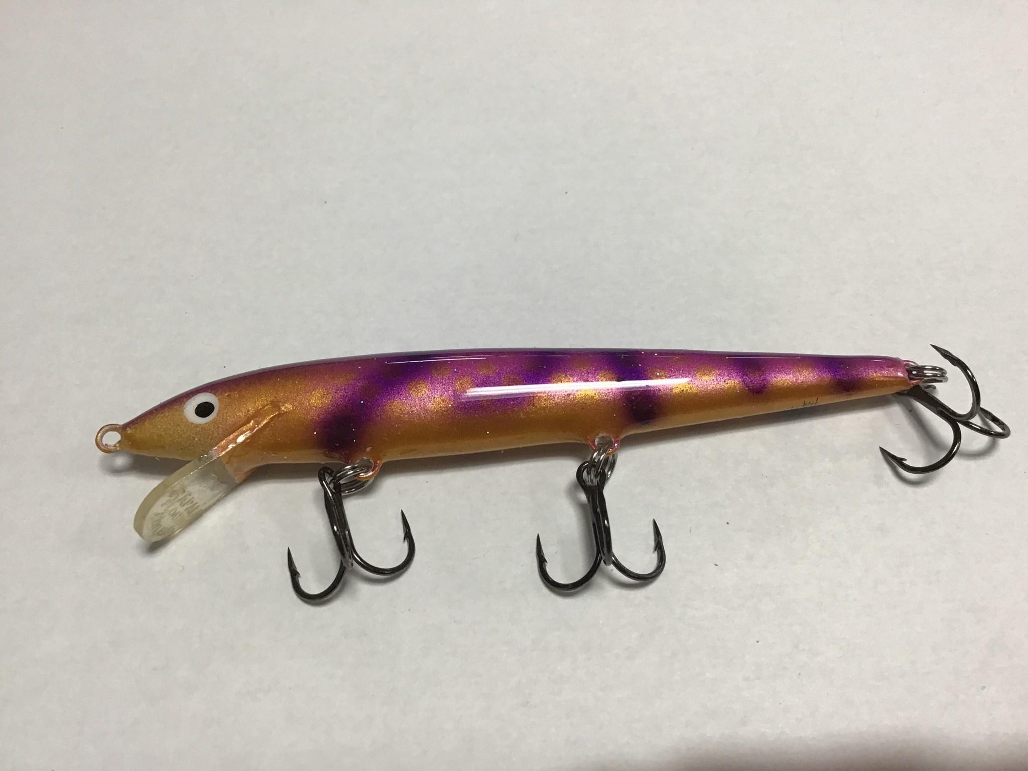 D&B Fishing Custom Rapala Copper/Purple Tiger F-11