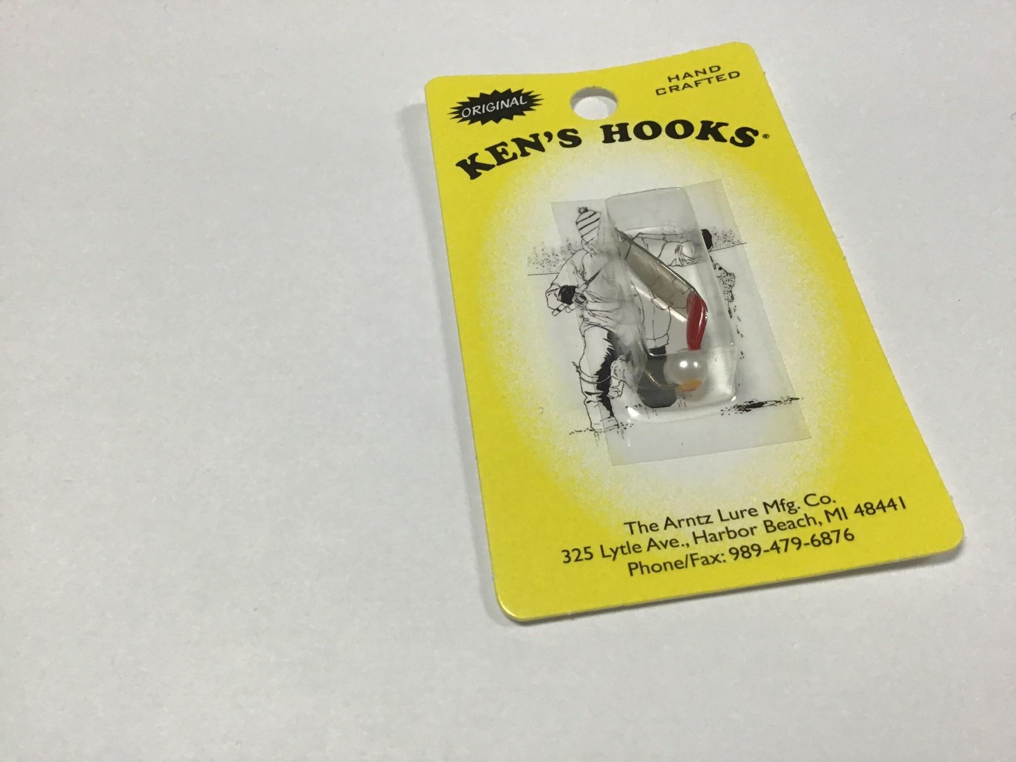 Arntz Lure Mfg Co. Ken's Hook Willow Pearl #2