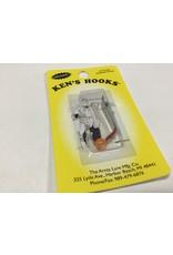 """Arntz Lure Mfg Co. Ken's Hook Skinny 1.5"""" Orange"""