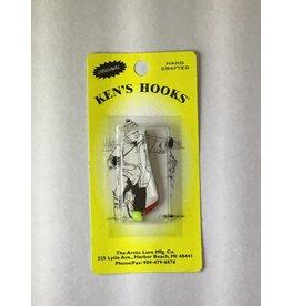 Arntz Lure Mfg Co. Ken's Hooks ice jigs Chart Skin Min 2