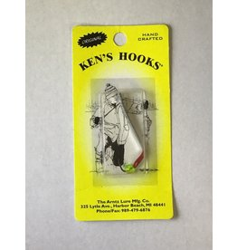 Arntz Lure Mfg Co. Ken's Hooks ice jigs Clear Chart Skin Min 2