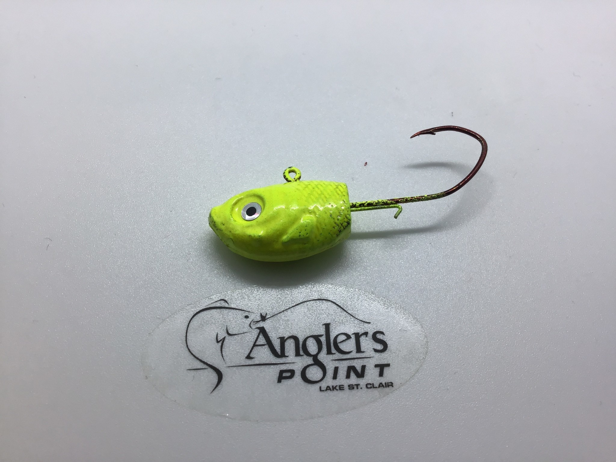 off the hook rich St. Clair Shiner Chartreuse Jig 1 oz. 3pk.