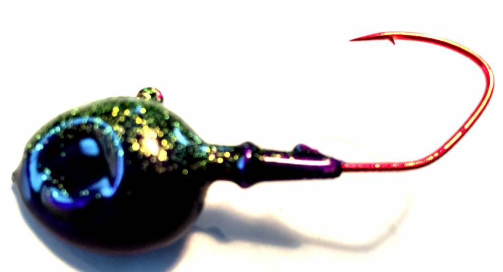 Domka Minnow Head Antifreeze/Purple Jig 3/4 oz. 3pk.