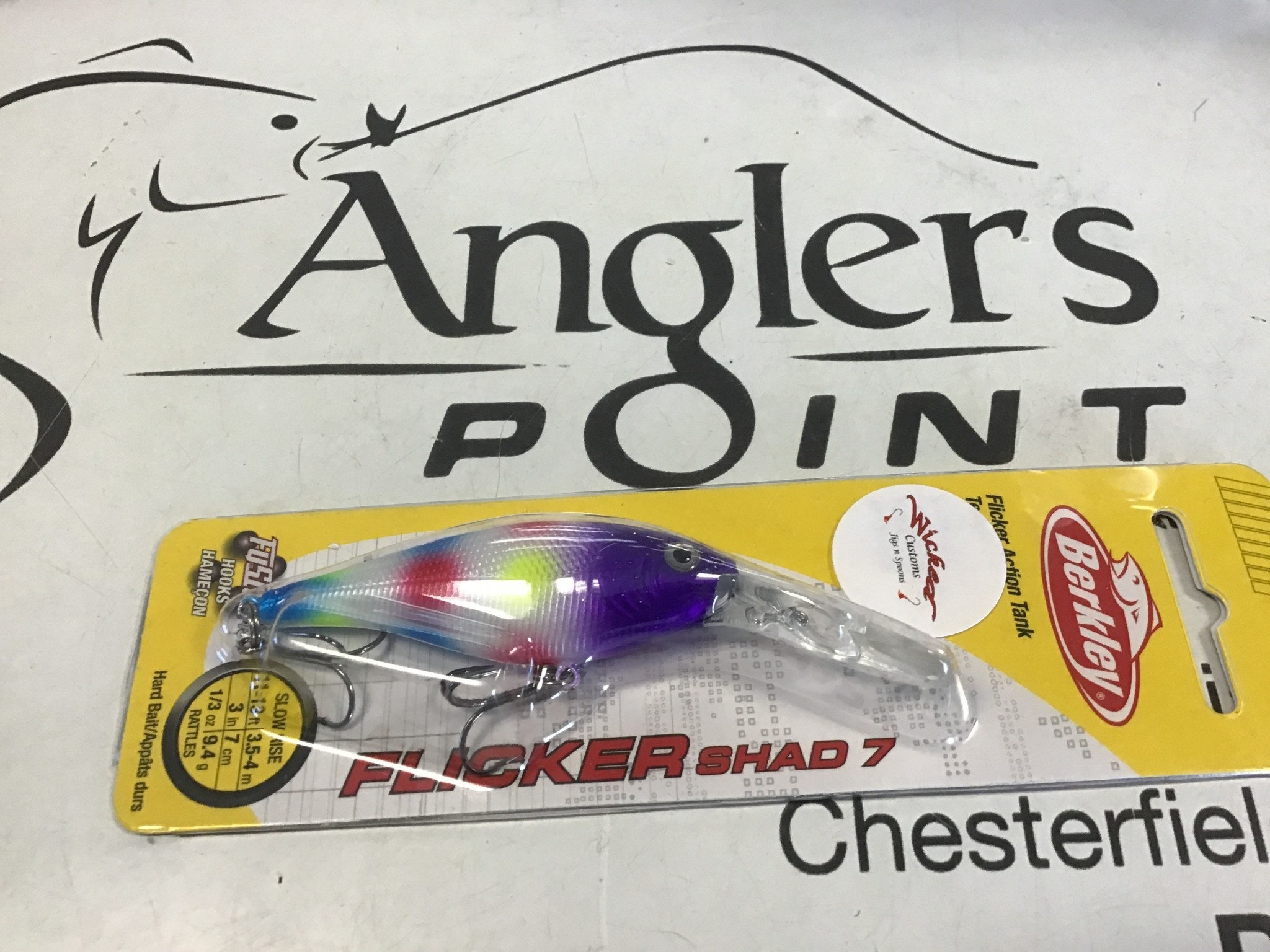 Wicked Custom jigs WCustom Flicker Shad #7 Purple Wonderbread
