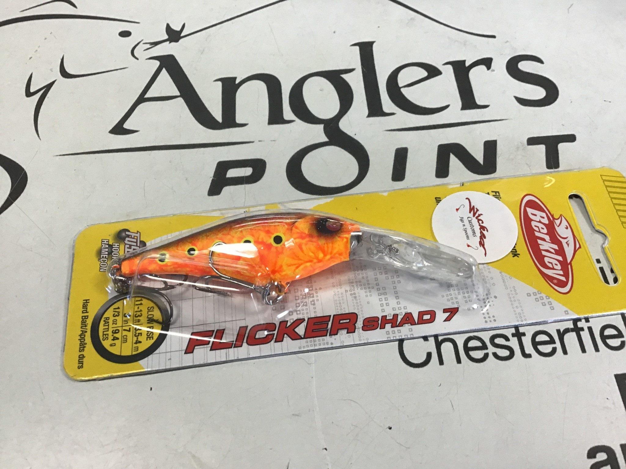 Wicked Custom jigs WCustom Flicker Shad #7-#387