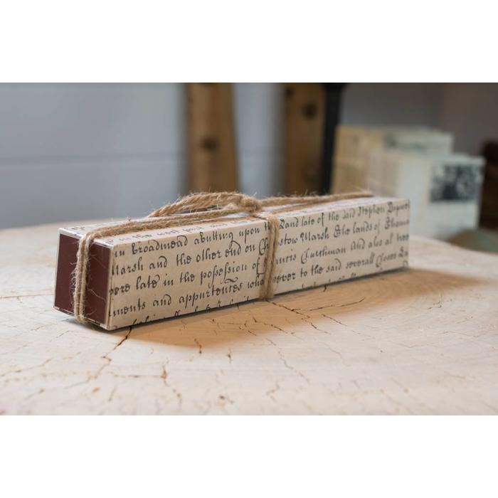 Matches - Ivory script match box