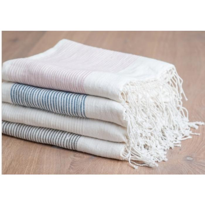 Ribs Bath Towel, Natural color