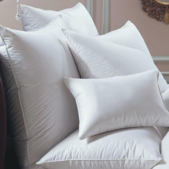 White Goose Down European Pillow with label 17oz.
