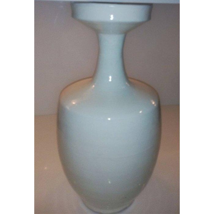 Skinny neck vase, white