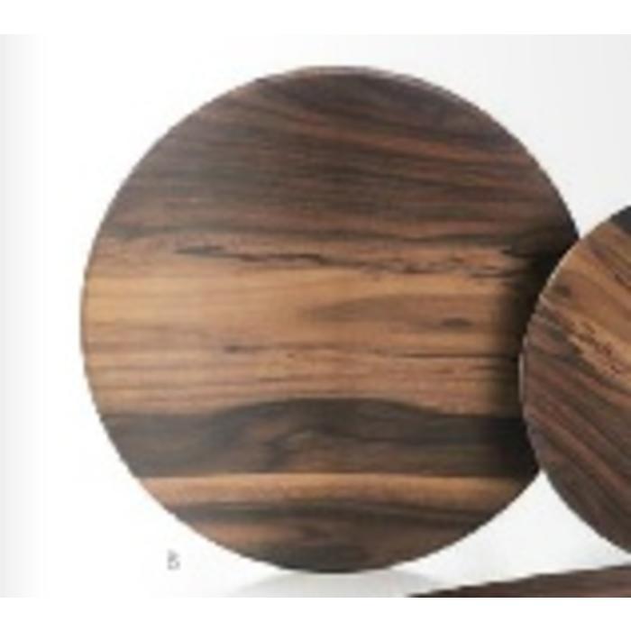 Melamine - Acacia round dinner plate