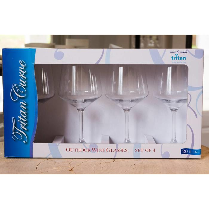 Outdoor Wine glass set of 4, clear