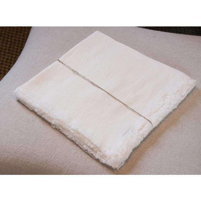 Linen Bilbao napkin, white 22 x 22
