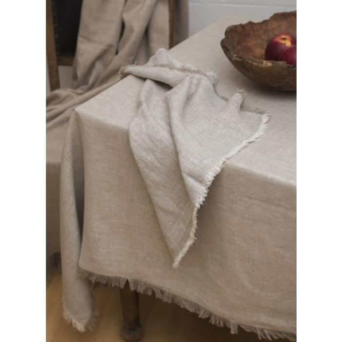 Barra tablecloth, beige with fringe edge 55 x 98