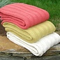Fat rib cotton throw, natural color