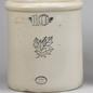 Oversized American glazed earthenware crock with No. 10