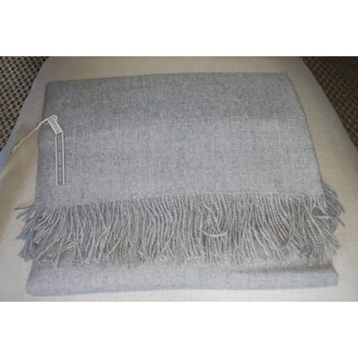 Alpaca Throw Solid - Ivory