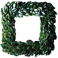 All Green Magnolia Square Wreath 24""