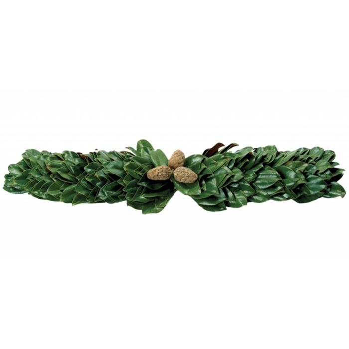 All Green Magnolia Mantel 36""