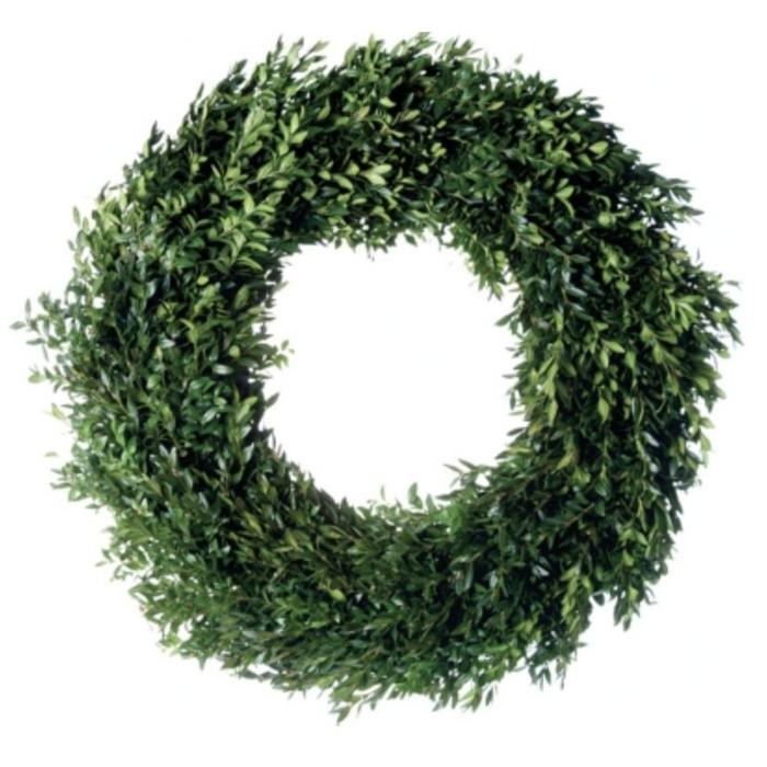 "Fresh Boxwood Wreath 30"""