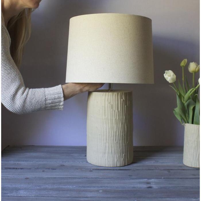 "Hand Hewn Lamp - 11"""