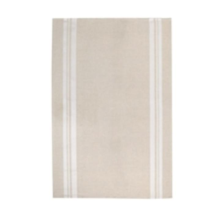 St Jean Tea Towel - Beige/White - Cotton/Linen
