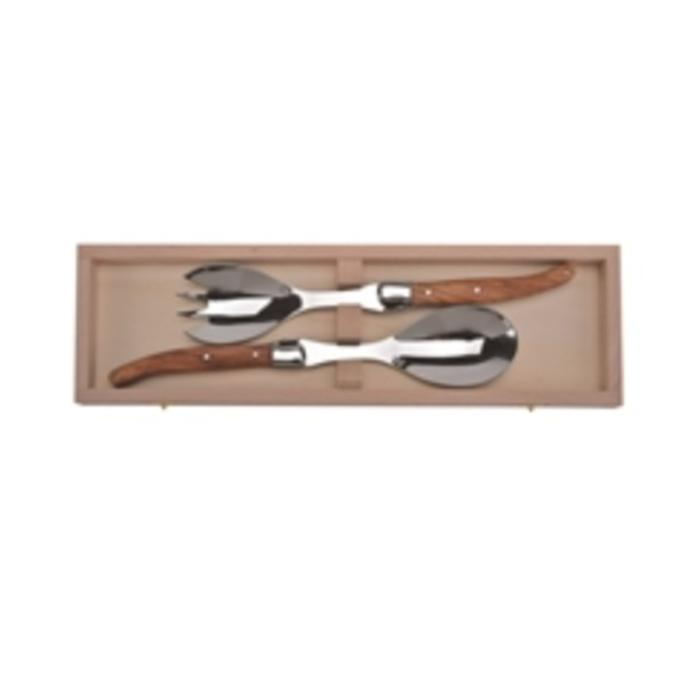 Laguiole Olive Wood Salad Set by Jean Dubost