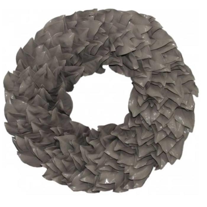 """Lacquered Magnolia Wreath - Taupe 34"""""""