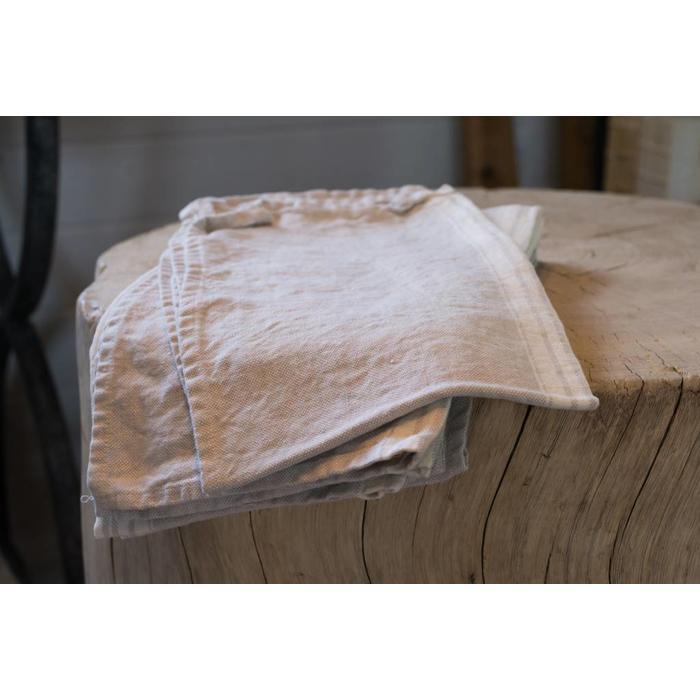 Linen Maison tea towel, grey with white stripe
