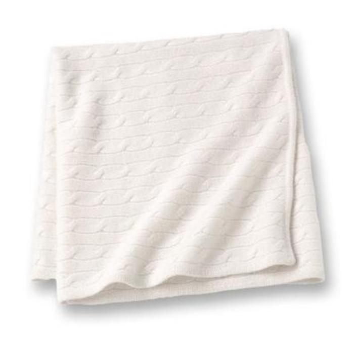 Cashmere Angle Baby Blanket - Ivory